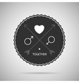 Hipster badge postcard vector image