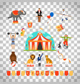 circus and fun fair elements vector image