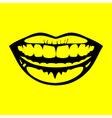 icon smile vector image