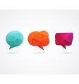 Polygonal geometric 3D speech bubbles set vector image