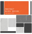 retro blocks template vector image