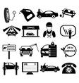 Auto service center icons set vector image