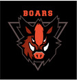 boar head emblem vector image
