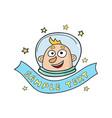 cartoon astronaut in doodle vector image