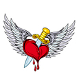 Heart with sword vector image