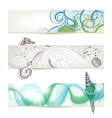 Sea and beach stylish banners vector image