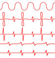 Seamless set of lines heartbeat vector image