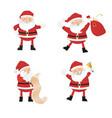 set of cartoon santa clauses vector image