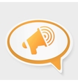 speech bubble megaphone vector image