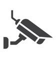 surveilance camera solid icon security and cctv vector image