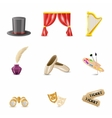 Theatre Realistic Icons vector image