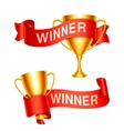 Trophy Cups with Ribbons vector image