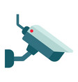 surveilance camera flat icon security and cctv vector image