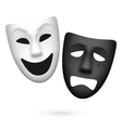 Comedy and tragedy theatrical masks vector image vector image
