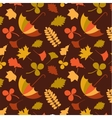 autumn seamless pattern with seasonal leafs and vector image vector image