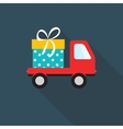 Free Delivery Icon with Long Shadow vector image