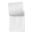 Flipping page on a stack of note papers isolated vector image