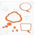 Speech bubbles and birds vector image vector image