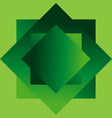 geometric shapes in the form of squares of green vector image