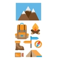 hiking and climbing vector image