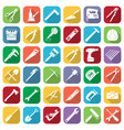 set of thirty six flat style tools icons vector image
