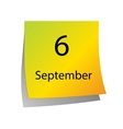 The sixth of September vector image