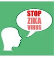 Zika Virus as a Danger Concept Art vector image