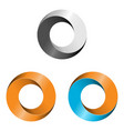 set of logotypes vector image