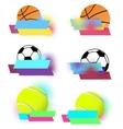 Sport balls banners set vector image vector image