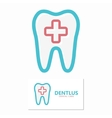 dental icon or logo vector image