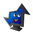 smiling cartoon computer vector image vector image