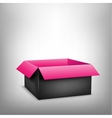 3D black pink box vector image vector image