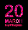 International Day of Happiness- Commemorative Day vector image vector image