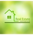 Real estate house on a green background vector image vector image