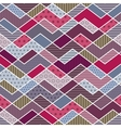 Abstract geometric patchwork pattern vector image