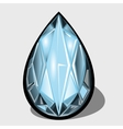 Blue diamond closeup decoration for your design vector image