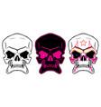 cartoon skulls vector image