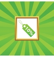 Discount picture icon vector image