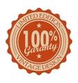 Garanty vintage round banner vector image