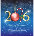 Golden New year 2016 sign vector image