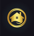 house icon business gold logo vector image