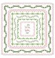 Set of decorative floral square frames vector image