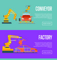 smart robotic automotive assembly line vector image