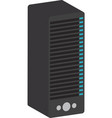 tower server computer isolated icon design vector image