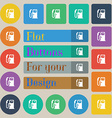 Fuel icon sign Set of twenty colored flat round vector image