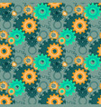 ongoing pattern with green gears creative vector image