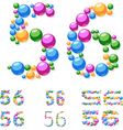 Alphabet symbols of colorful bubbles or balls vector image vector image