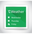 Icon of weather for web and mobile applications vector image