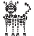 robot dog vector image vector image