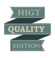 Higt quality vintage styled ribbon vector image